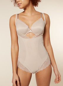 Natural Mesh and Lace Wear Your Own Bra Body