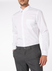 2 Pack White Long Sleeve Slim Fit Shirts