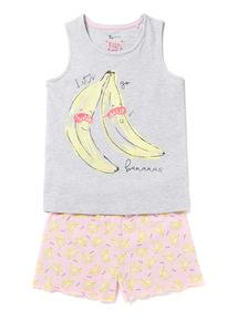 Grey 'Let's Go Bananas' Pyjamas (3-14 years)