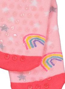 Multicoloured Unicorn Slipper Socks