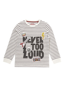 Multicoloured Striped Badge Tee (9 months-6 years)