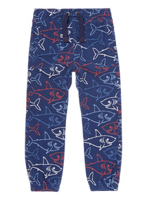 Blue Shark Print Joggers (9 months-5 years)