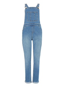 Blue Denim Washed Dungarees