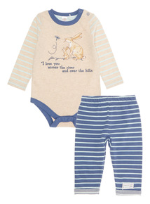 Navy Guess How Much I Love You Bodysuit And Jogger Set (0 - 24 months)