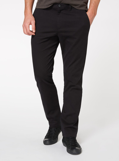 Black Straight Leg Chinos With Stretch