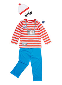 Kids Multicoloured Where's Wally Costume (3-12 Years)