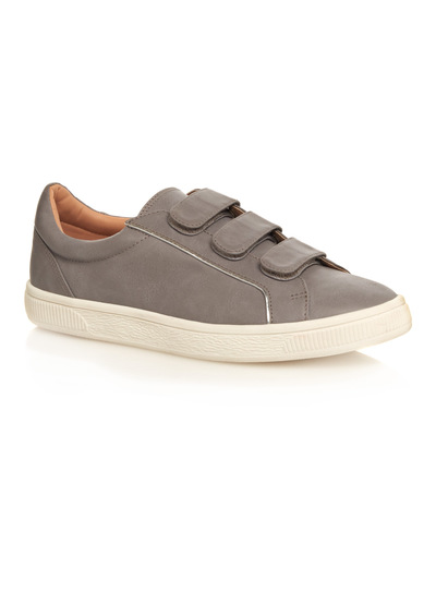 Grey Cupsole Velcro Trainers