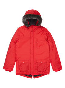 Red Parka Jacket (3-14 years)