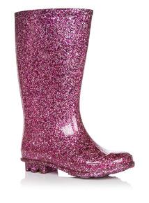 Girls Pink Glitter Welly