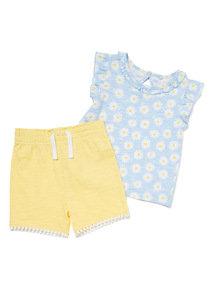 2 Piece Multicoloured Jersey T-shirt and Shorts Set (0-24 months)