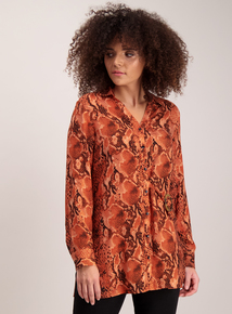 Burnt Orange Snake Print Tunic