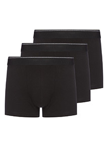 3 Pack Black Hipster Briefs