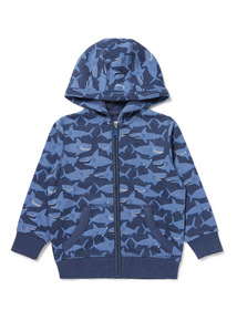 Blue Shark Zip Up Sweatshirt (9 months-6 years)