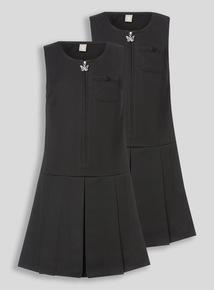 Black Zip Through Pinafore (3-12 years)