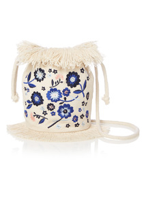 Multicoloured Floral Embroidered Bag