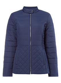 Navy Lightweight Quilted Jacket