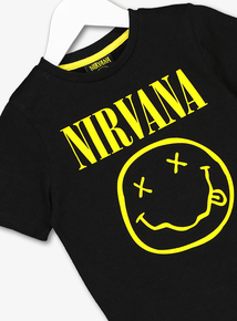 Nirvana Black Smiley T-Shirt (3-12 Years)