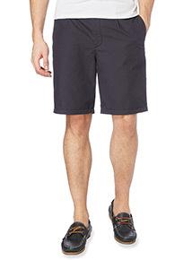Navy Poplin Chino Shorts