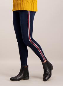 Blue Side Stripe Skinny Jeans