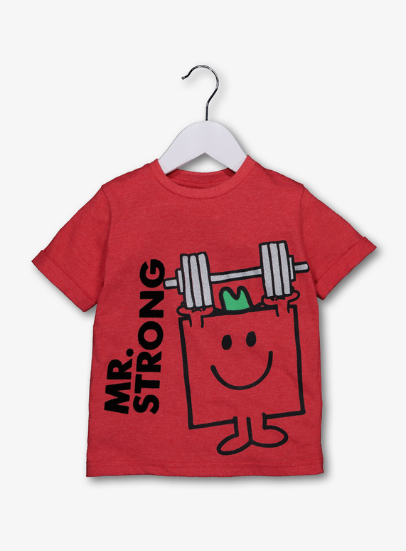 8f0dd83b License & Character Shop Online Exclusive Mr Men Mr Strong Red T ...