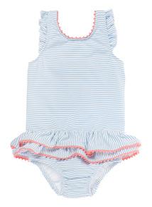 Girls Blue Nautical Swimsuit (0-3 years)