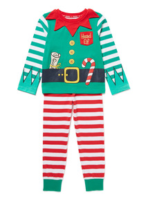 Green Christmas Elf Pyjamas (2-12 years)