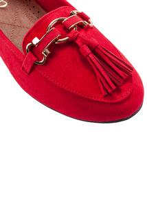 Red Sole Comfort Tassel Loafer