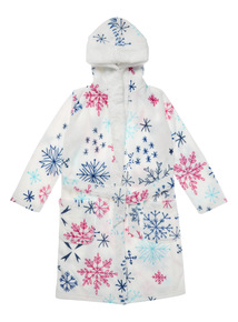White Snowflake Pom Dressing Gown (2-13 years)