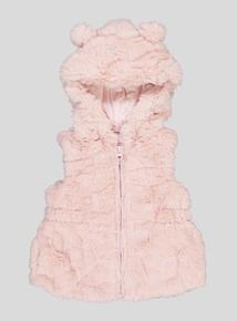 Pink Fur Gilet (9 months - 6 Years)