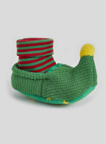 Multicoloured Elf Pop On Booties (0- 18 months)