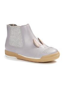 Purple Glitter Rabbit Boots