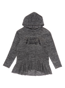 Grey Girls Squad Snit Hoodie (3-14 years)