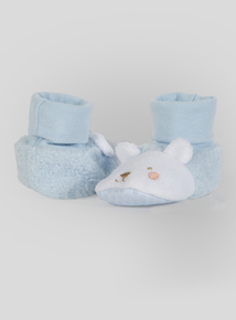 Pale Blue Animal Booties (Newborn-36 months)