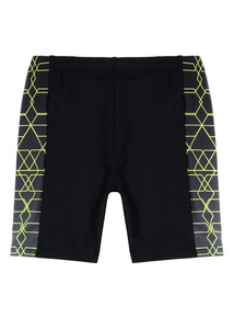 Black Panel Swim Shorts (3 - 12 years)