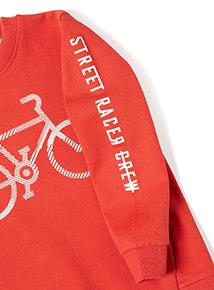 Red Bike Sweatshirt (3-14 years)