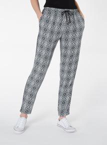 Paisley Print Draped Trousers