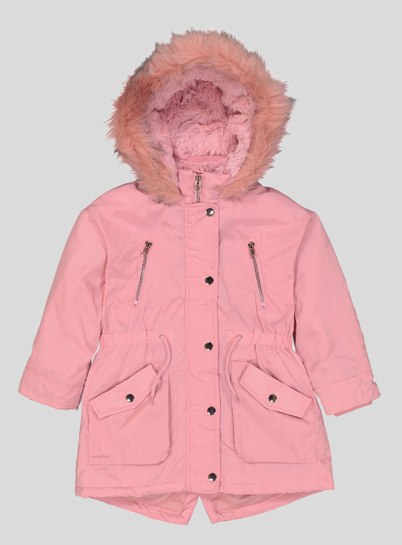 a5a5d481f0260 Kids Pink Parka Coat (3 - 14 Years)