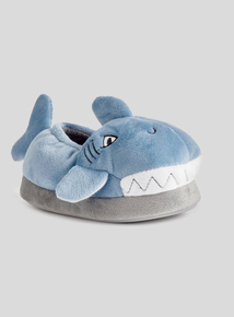Blue Shark Novelty Slippers (4 infant - 12 child)