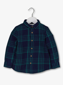 Green Check Borg Lined Shirt (9 months - 6 years)