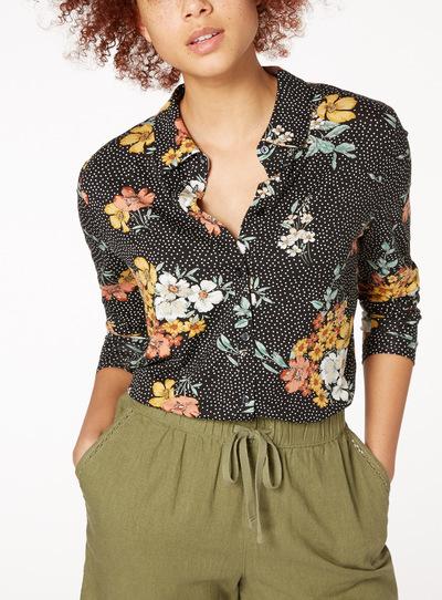 Floral Spotty Shirt