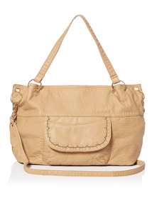 Washed PU Shoulder Bag