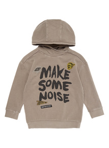 Khaki Make Some Noise Hoody (3-14 years)