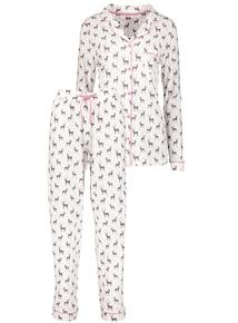 Christmas Cream Stag Print Pyjamas