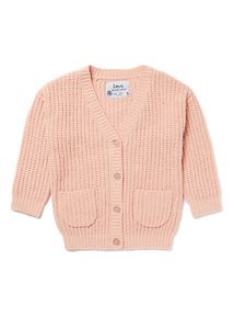Pink Girlfriend Cardigan (9 months-6 years)