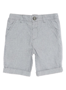 Boys Grey Stripe Shorts (9 months - 6 years)