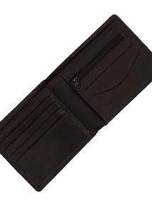 Harris Tweed & Leather Billfold Wallet