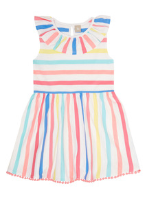 Multicoloured Striped Jersey Dress (9 months - 6 years)