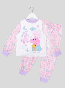 Peppa Pig Lightweight Fleece Long Sleeve Pyjama Set (1-6 Years)