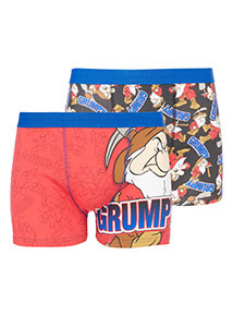 Online Exclusive 2 Pack 'Grumpy' Character Printed Trunks