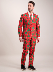 Online Exclusive Red Christmas Tree Suit